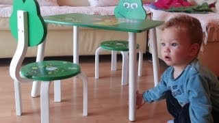 Kid Teo Fun With New Toys Table And Chair Set