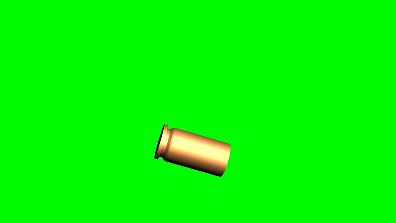 Flying Shellcase - Green Screen Chroma Key - Free HD ...