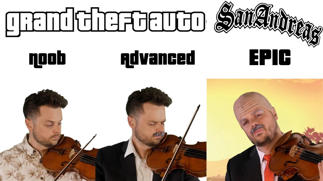 5 Levels of GTA San Andreas Theme: Noob to Epic