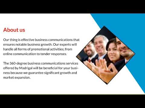 Tender Proposal - Madrigal Communications