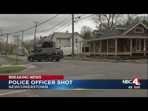 Police searching for searching for suspects who shot Newcomerstown, Ohio police officer