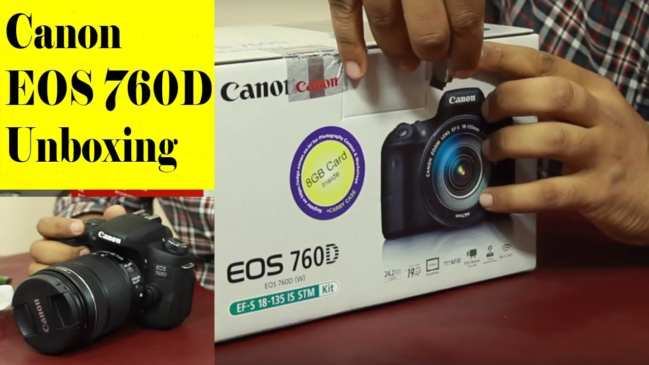 Canon Eos 760d Dslr Camera Unboxing Hands On India Hindi By Body Only 760 Bo
