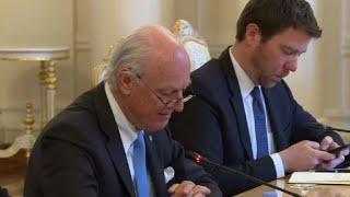 Russia's Lavrov meets UN Syria envoy Staffan de Mistura