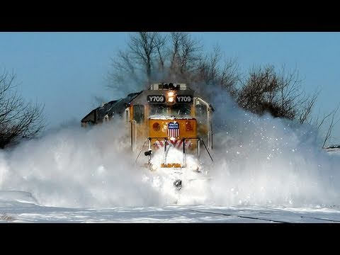 Thumbnail: UP Y709, Clearing the Rails on 2-3-2011