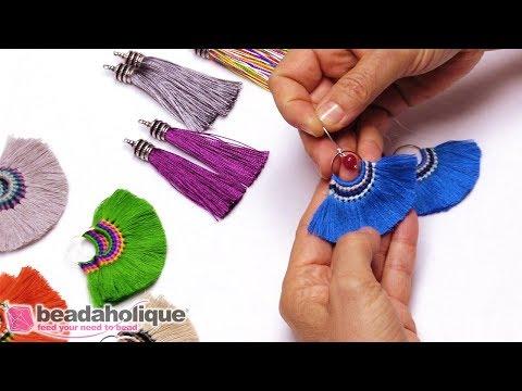 Quick & Easy DIY Jewelry: Mykonos Fanned Tassel Earrings