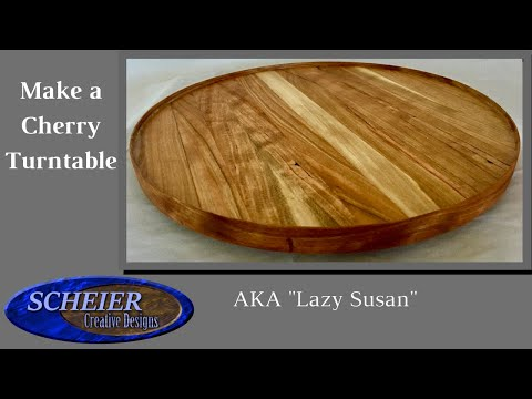 How To Make a Lazy Susan / Cherry Turntable / Woodworking