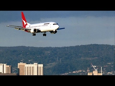 Landing At Adelaide Airport, SA - City Skyline & Adelaide Hills - Fly Me To The Moon & Faithfully