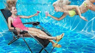 24 часа под водой челлендж!