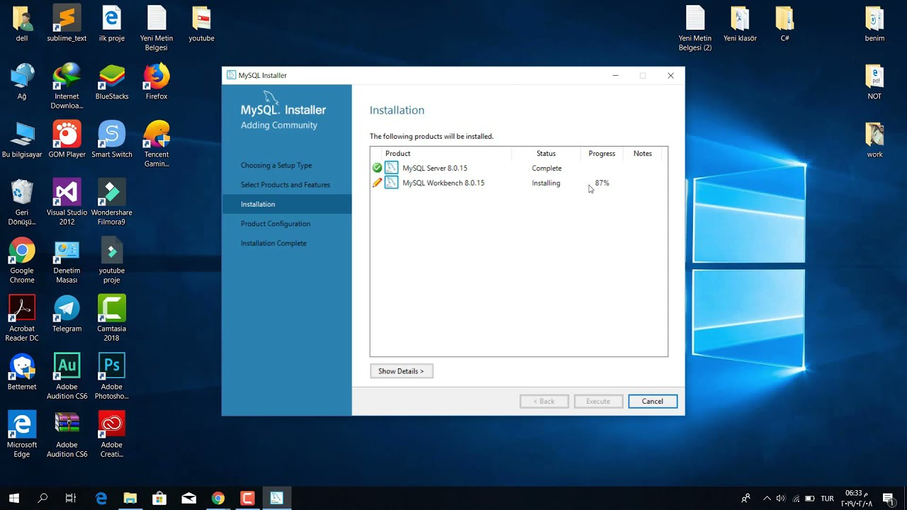 تحميل وتنصيب How to Download & Install Mysql server 8 0 15 in windows 10 -  Mysql 2019