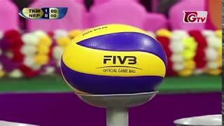 Turkmenistan vs Nepal || 1st Semi Final || Bangabandhu International Volleyball Tournament 2018