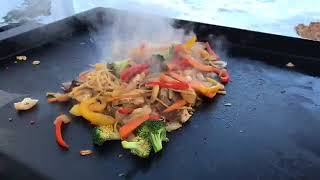 Recorded Live   Mongolian BBQ on the Flat Top Grill