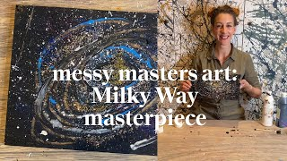 Make your own Milky Way Painting | Messy Masters Art Class | Learn at Home with Maggie & Rose