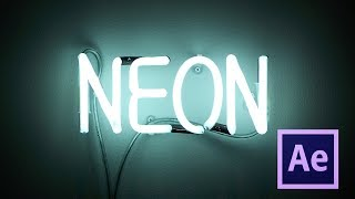After Effects Dersleri   Neon Yazı Efekti