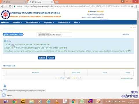 Exit Process for Single UAN /Bulk New ECR Portal
