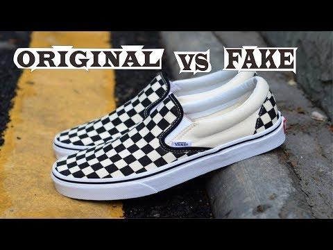 Vans Slip On Checkerboard Off White Black Original & Fake