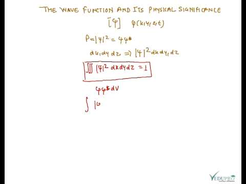 The wave function and its physical significance, Properties of Wave Function