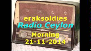 Radio Ceylon 21-11-2014~Friday Morning~02 Film Sangeet - Version Songs