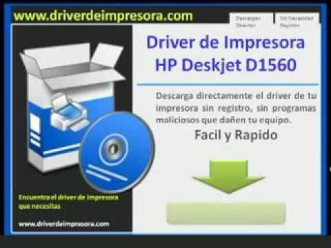 Hp deskjet d1560 printer driver for windows 7.