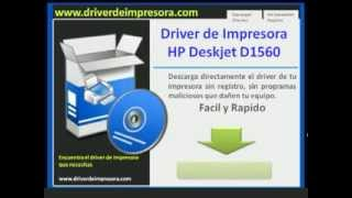 Descargar Driver de impresora hp deskjet d1560
