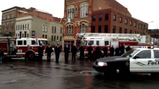 Procession for Akron officer Justin Winebrenner