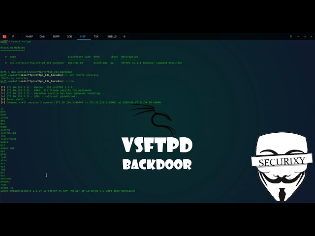 Уязвимость VSFTPD 2.3.4 Backdoor Command Execution | Metasploitable 2