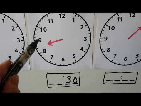 Grade 1 Math 9.9, Practice time to the hour & half-hour