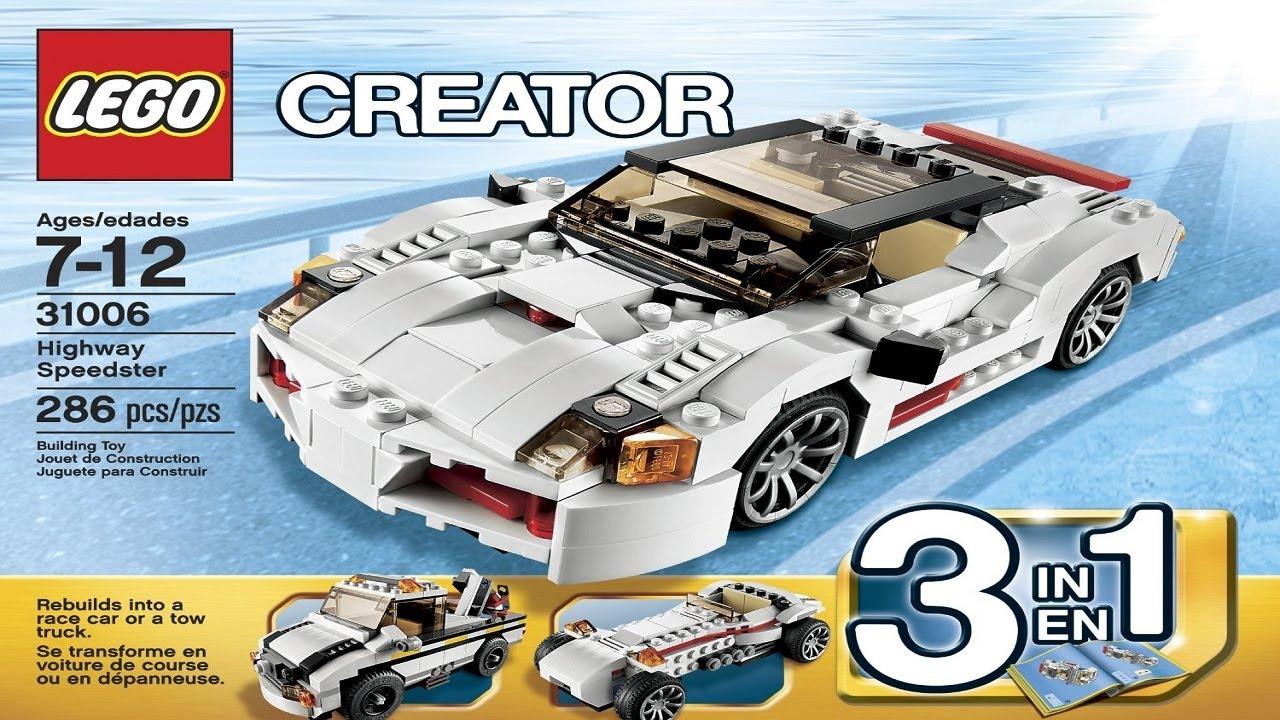Lego Creator Instructions For 31006 Highway Speedster Youtube