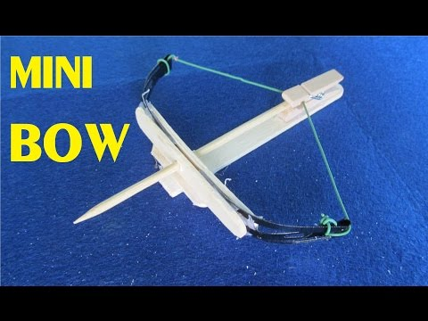 How To Make A Mini Bow From Hairclip And Popsicle Sticks | Toy Weapon