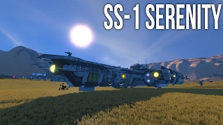 Space Engineers - SS-1 Serenity Cargo Ship - Spotlight!