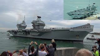 🇬🇧 The Awesome HMS Queen Elizabeth Aircraft Carrier, Arrives at Portsmouth UK.