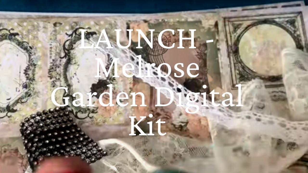 LAUNCH - Melrose Garden Junk Journal Kit + Altered File Folder Pt 1