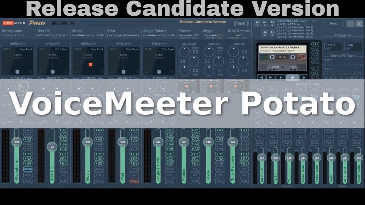VoiceMeeter Potato - Release Candidate Intro