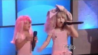 8 Year Old Girl Raps Nicki Minaj's Super bass on Ellen