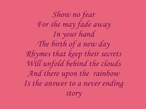 The Neverending Story. Lyrics