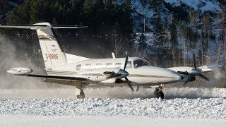 Piper PA-42-720 Cheyenne III Landing