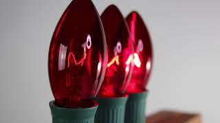 Red C9 Twinkle Bulbs   Incandescent