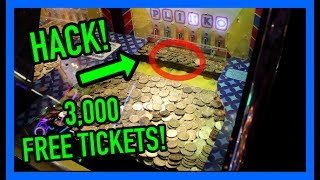 I HACKED THIS COIN PUSHER! 100% REAL (3,000 FREE TICKETS!) | JOYSTICK
