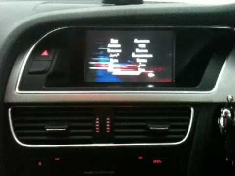 Audi S5 Sportback 3G MMI B&O DVD iPod plus interior view and snow covered exterior view