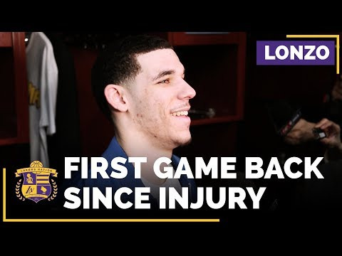 Lakers Rookie Lonzo Ball After His First Game Back Since Injury