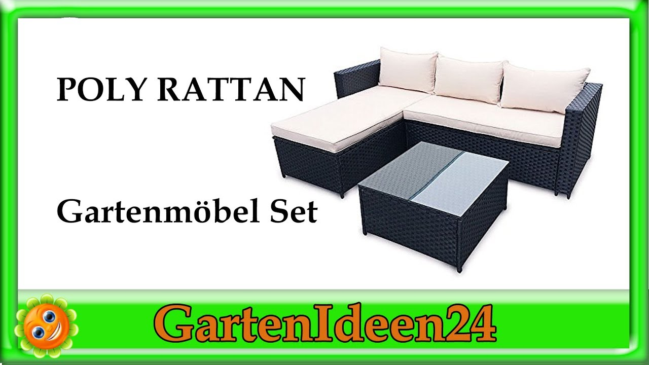 POLY RATTAN Gartenmoebel Set aus Rattan | Gartenideen | Gartenset ...