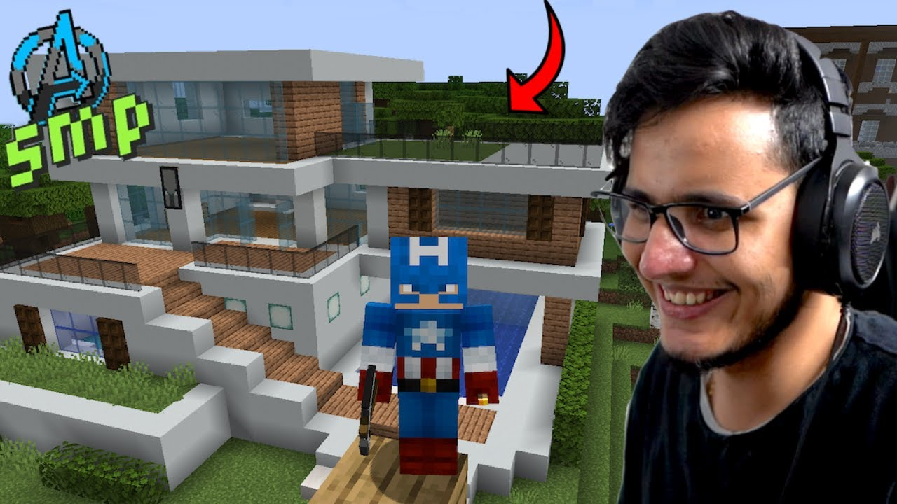 I Built The Best Modern House in Minecraft [Avengers SMP]