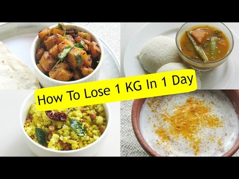 how-to-lose-weight-1-kg-in-1-day---diet-plan-to-lose-weight-fast-1-kg-in-a-day---indian-meal-plan