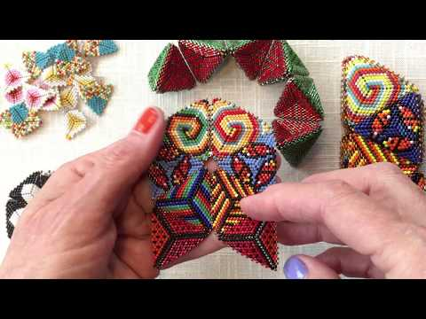 Contemporary Geometric Beadwork : The Flower Face Join for a Simple Kaleidocycle:  PART ONE