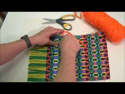 Paper Strip Kente Weaving - Project #164
