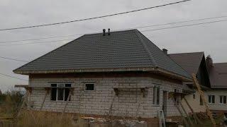 видео Вальмовая крыша своими руками