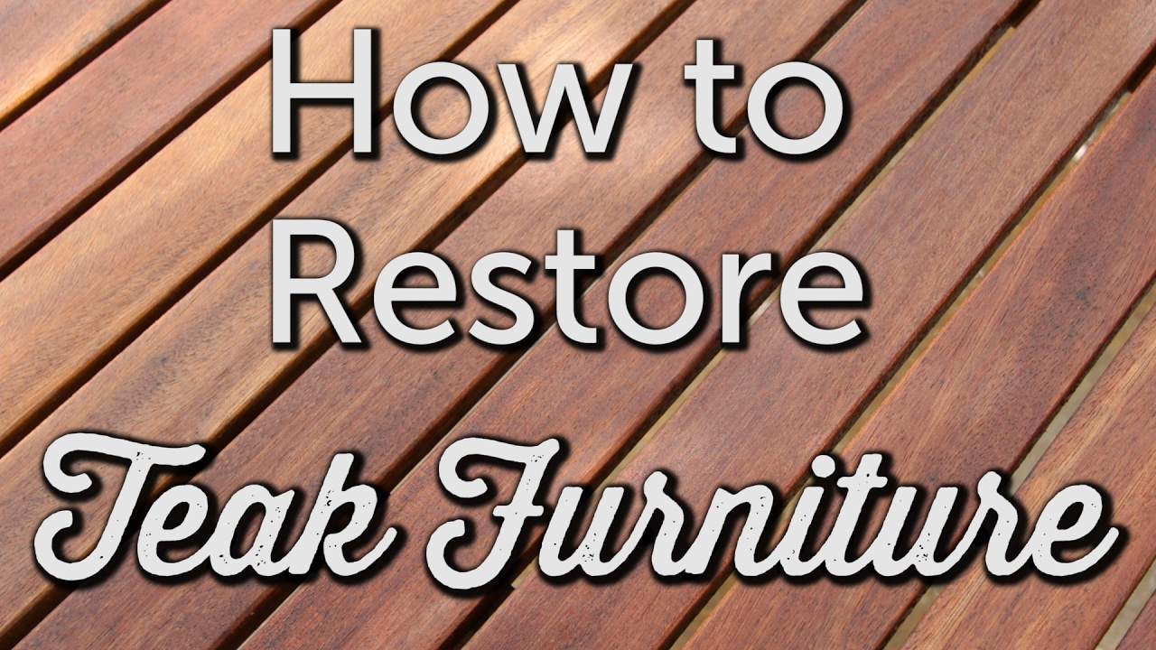 How To Re Teak Diy Patio