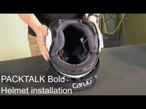 PACKTALK BOLD- Helmet Installation