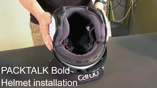 PACKTALK Bold: Helmet Installation