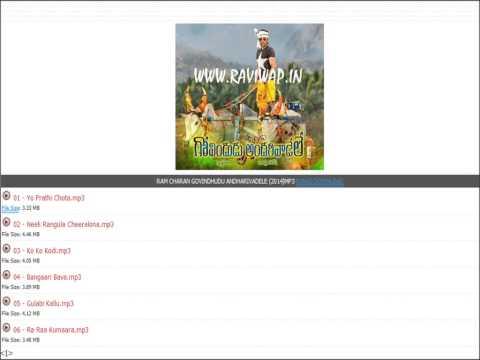 ram charan Govindudu Andarivadele mp3  songs free download teluguwap