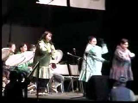 17 Alaska Federation of Natives - kids outside - drums dance